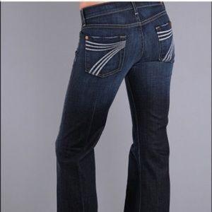 7 FAM Dojo Wide Leg Flare Jeans